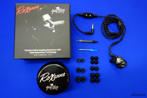 A complete set of JH Audio Roxanne Universal